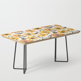 Sunflower Watercolor – Yellow & Black Palette Coffee Table