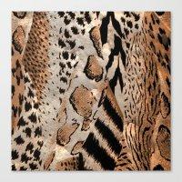safari Canvas Prints featuring Safari by Colorful Art