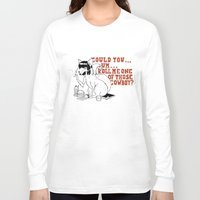 pulp fiction Long Sleeve T-shirts featuring Fox by LullaBy D