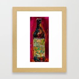 Ithaca Beer Flower Power  Framed Art Print