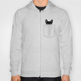 Pocket French Bulldog - Black Hoody
