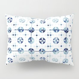 Azulejo I - Portuguese hand painted tiles Pillow Sham