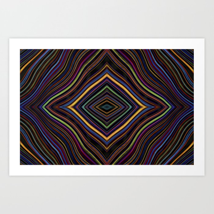 Wild Wavy Diamonds 27 Art Print