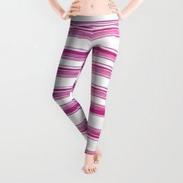 Drawn Lines Purple to Pink Ombre Leggings