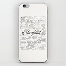 Maryland iPhone & iPod Skin