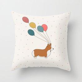 HAPPY NEW YEAR CORGI Throw Pillow