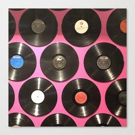 Pink Vinyl Canvas Print