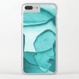 Contemplation - Blue Clear iPhone Case
