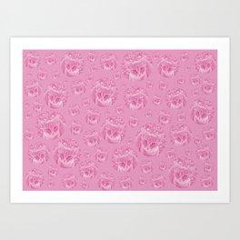Kittys for girls Art Print