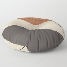 Modern Abstract Shapes #3 Floor Pillow