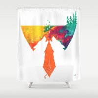 wolves Shower Curtains featuring Wolves by Ricardo Moody