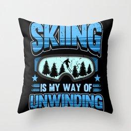 Ski Winter Sports Skiing Winter Gifts Throw Pillow