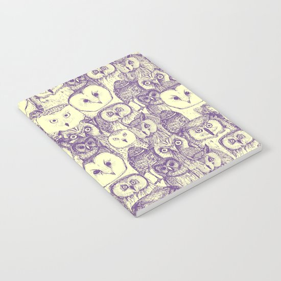 just owls purple cream Notebook