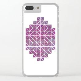 Broken Geometry 2 Clear iPhone Case