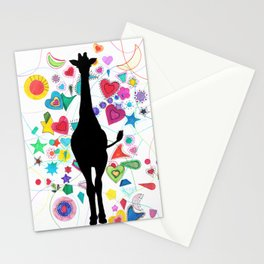 Giraffe World Stationery Cards