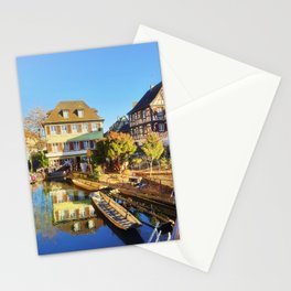 Colorful romantic city Colmar, called little Venice in France Stationery Cards