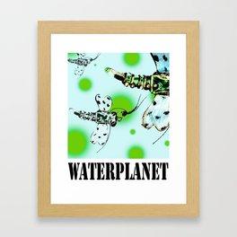 WATERPLANET: Dragonfly Framed Art Print