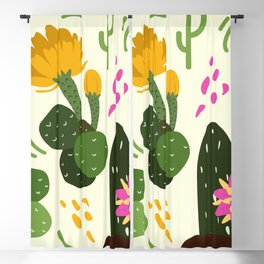Desert flowers and plants Blackout Curtain