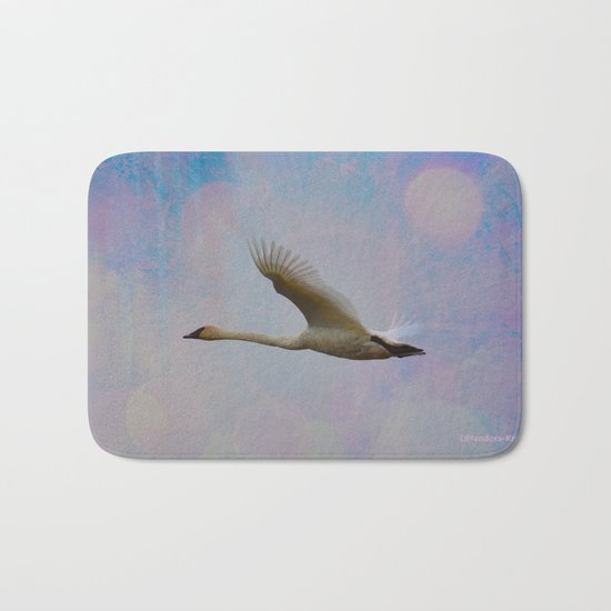 Radiant Swan! Bath Mat