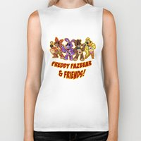 fnaf Biker Tanks featuring Freddy Fazbear & Friends by Silvering