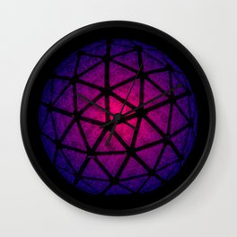 Purple Crystal Lavender Happy New Year Ball New York City New Year's Eve Wall Clock