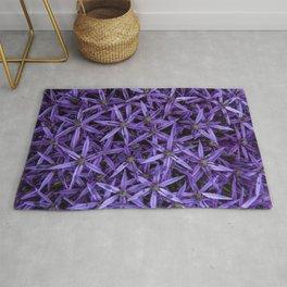 Purple giant garlic flowers Rug