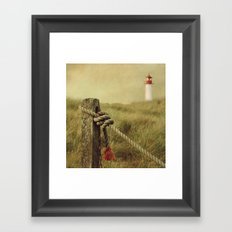 To the Lighthouse (textured) Framed Art Print
