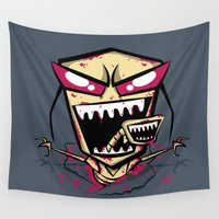 doom Wall Tapestries featuring Chest burst of Doom by Hoborobo