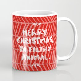 Merry Christmas, Ya Filthy Animal – Red Coffee Mug