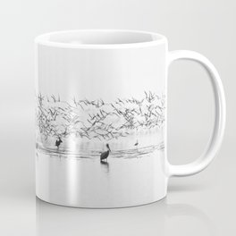 Flock of Terns and Pelicans in the Florida Bay Coffee Mug