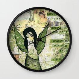 Garden Fairy Wall Clock