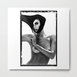 Breathe Girl Don Lebon Metal Print