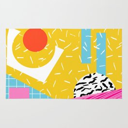 Homefry - abstract pattern memphis retro throwback 80s neon vibes trendy art decor Rug