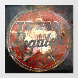Texan - Vintage Label Canvas Print