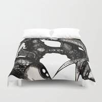 pisces Duvet Covers featuring Pisces by Shane Williams