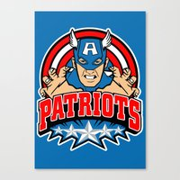 patriots Canvas Prints featuring Patriots by Buby87