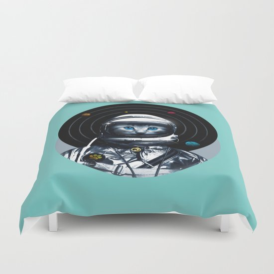Space Kitten (white ver.) Duvet Cover