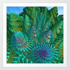 3D seashells artwork Art Print