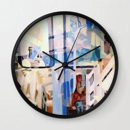 Blue Commuter Wall Clock