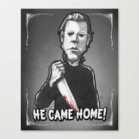 """michael myers Canvas Prints featuring Michael Myers from """"Halloween"""" (1978) by Andysocial Industries"""
