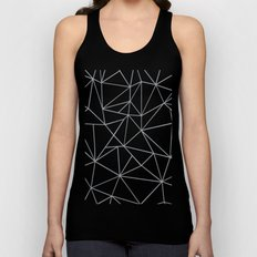Ab Outline 2 Grey on White Unisex Tank Top
