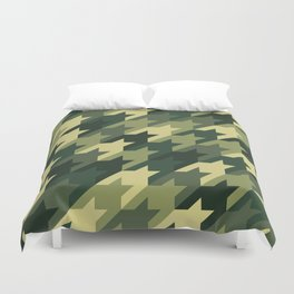 Camouflage houndstooth Duvet Cover
