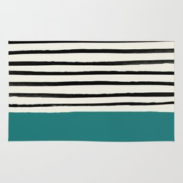 Teal x Stripes Rug