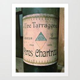 Chartreuse Green Liqueur Fabriquee par Les Peres Chartreux Art Print