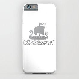 Dragon Boat - Silver Grey iPhone Case