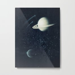 Deep Blue Space Metal Print