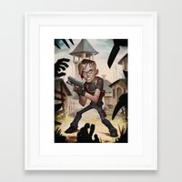 resident evil Framed Art Prints featuring Resident Evil 4 by Max Grecke