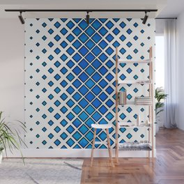Diamonds Large to Small - Blue Wall Mural
