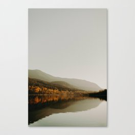 The Faded Forest on a River (Color) Canvas Print