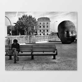 Girl and Baby head in Atocha Station, Madrid Canvas Print
